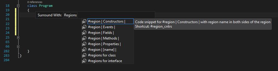 Regions folder